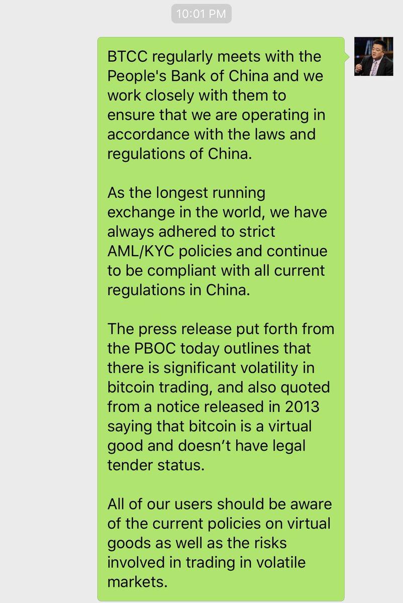 Thông báo của BTCC