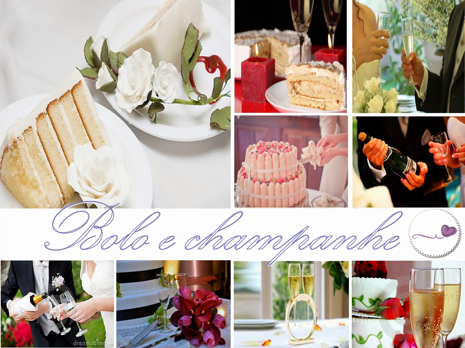 como preparar cardápio casamento  bolo e champanhe