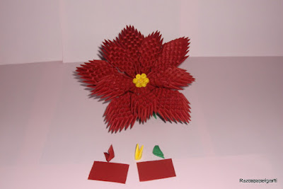 , 3D Origami flower made from paper