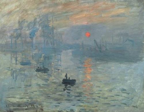 Impressão, nascer do sol (do francês: Impression, soleil levant), pintura impressionista de Claude Monet. #PraCegoVer