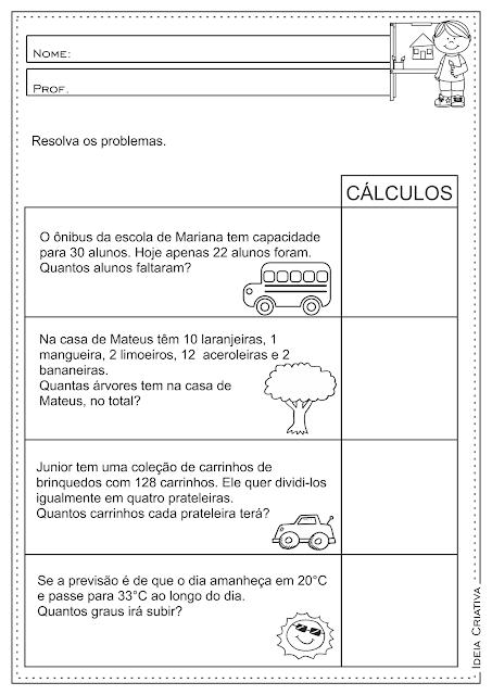 Contas De Matematica 3 Ano Ensino Fundamental Compartilhar Ensino