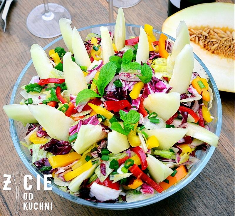 salatka, grill, grillujemy, maj, majowka, melon, melon miodowy, ogrod, papryka, co do grilla, przepisy na grill