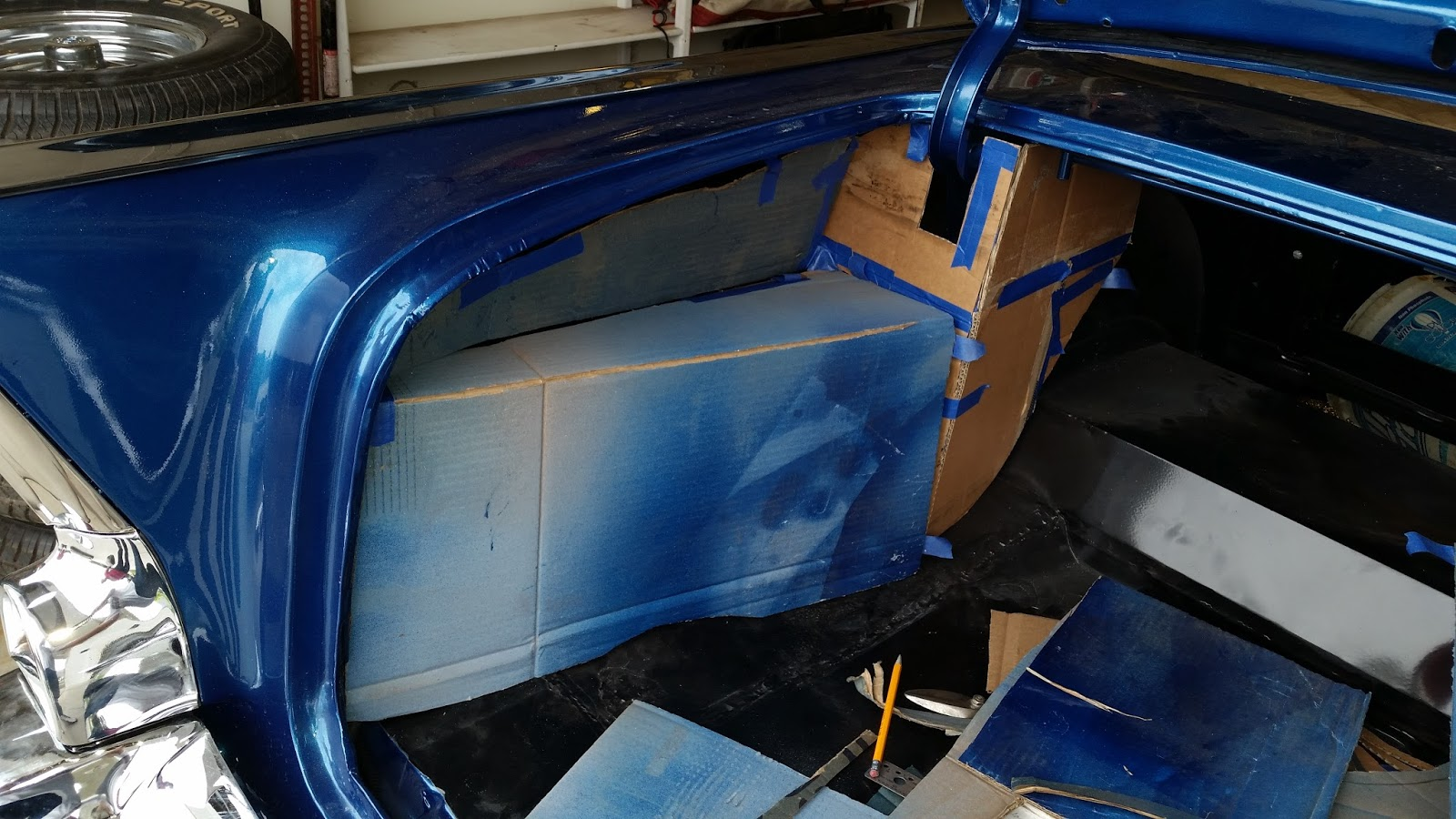 Then made the wood frame work that i will upholster to match the interior here is the trunk