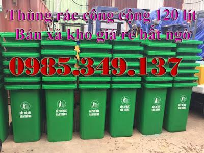 Thùng rác 120 lít HDPE