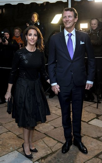 Crown Princess Mary wore Rochas Black Pleated Jacquard Skirt