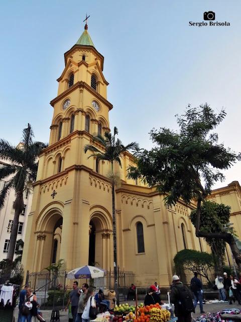 Vista ampla da Paróquia Santa Cecília - Santa Cecília - São Paulo