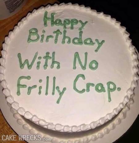 The No Frills Birthday