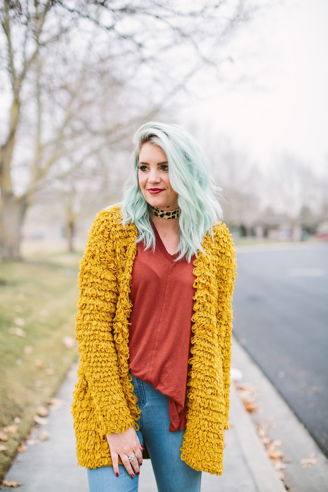 Mint Hair, Utah Fashion Blogger, Winter Layers