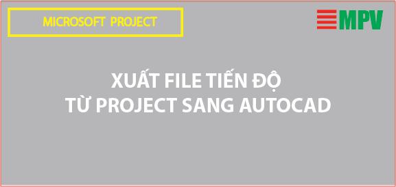 Hướng dẫn xuất file tiến độ từ Project sang Autocad