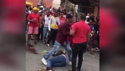 Grupo de personas lincha a palos presunto asaltante