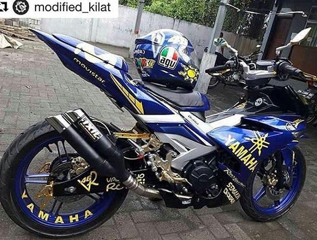 45 Gambar Modifikasi Jupiter MX King 150 Ala Road Race Terbaru