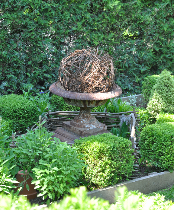 The Tradition Of Making Low Woven Fences For A Vegetable Or Herb Garden Stretches Back To Elizabethan Times In This Modern Example Branches Have Been