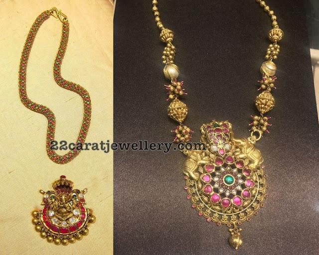 Ganesh and Naga Pendant Sets