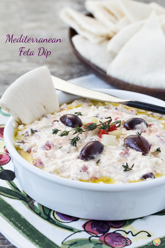 Mediterranean Feta Dip | Cooking on the Front Burner