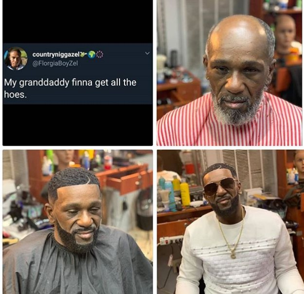 Man Shares Dramatic Change Of His Grandpa, After He Visited The Barber's Shop
