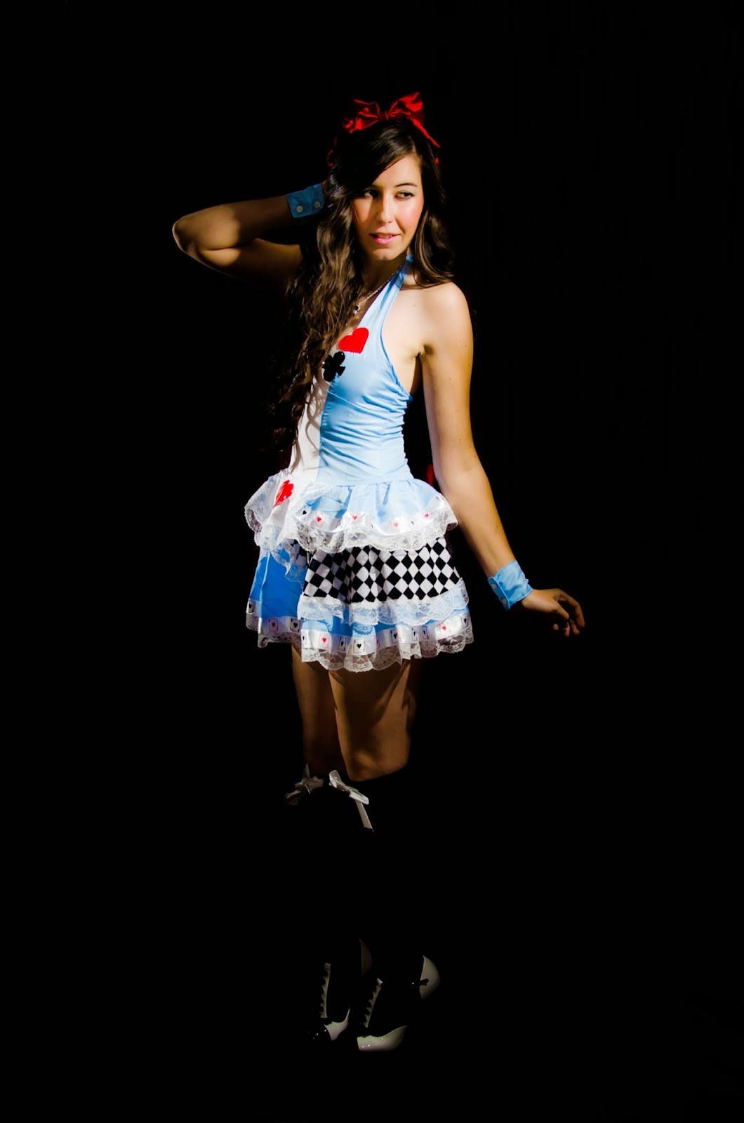 halloween, halloween costume, alice in wonderland costume, lost in wonderland, alice in wonderland, sexy, sexy outfit, risque, love halloween, sexy halloween costumes, amiclubwear, ami clubwear, ami clubwear halloween costumes, hot costume, queen of hearts costume,