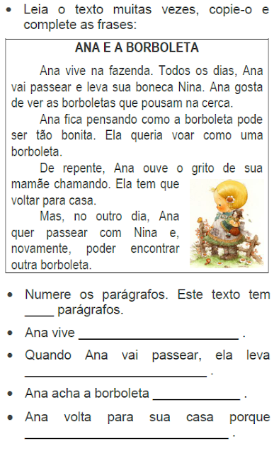 Texto ANA E A BORBOLETA, de Elisângela Terra