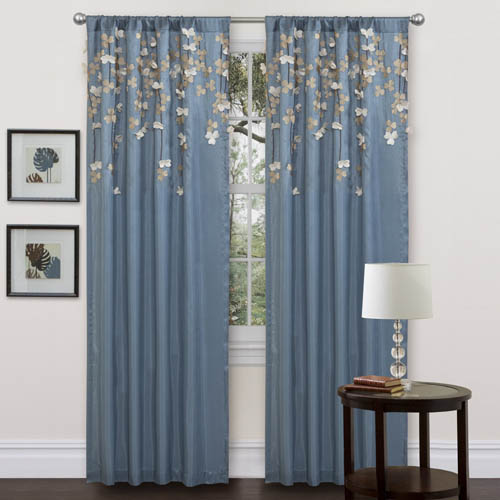 Blue And Tan Curtains: BEAUTIFUL LIVING ROOM CURTAIN DESIGNS