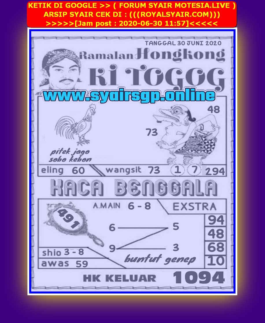Kode syair Hongkong Selasa 30 Juni 2020 181
