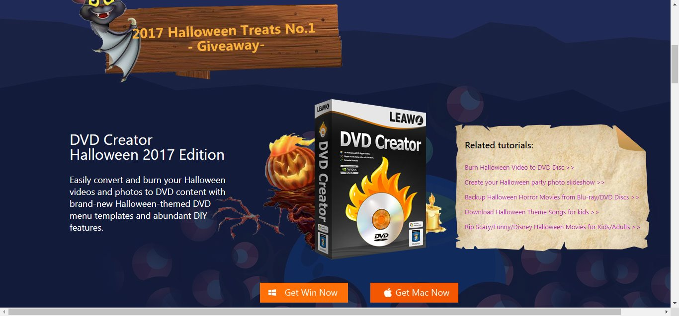 Leawo 2017 Halloween Promotion Launched with Giveaway and Unreal