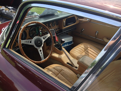 Classic Jaguar Interior Dash and Steering Wheel