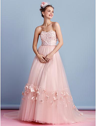 Vestido de Novia Tul Rosa Perla