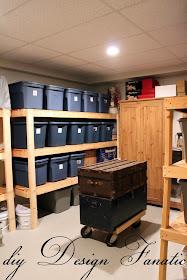 storage shelves, diy storage shelves, basement storage, garage storage
