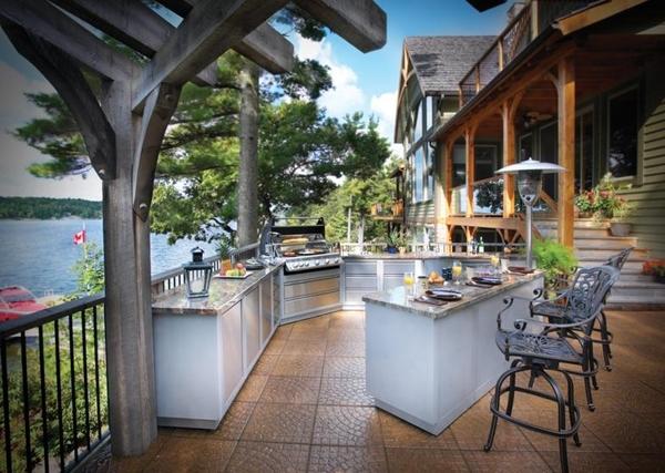 Dise o de cocina al aire libre ideas para decorar for Color de pintura al aire libre casa moderna