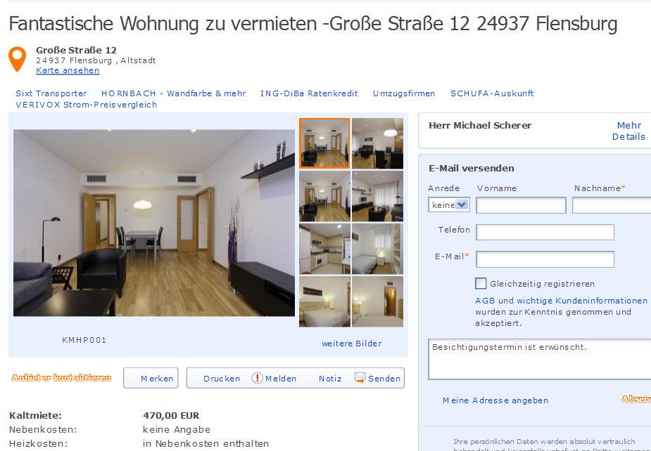 Informationen ber Wohnungsbetrug  informations about rental scam  Seite 488