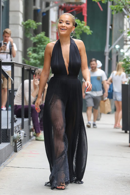 Rita Ora – Filming America's Next Top Model in NYC
