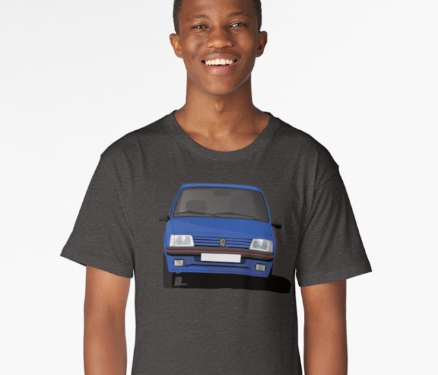Peugeot 205 GTi blue t-shirt