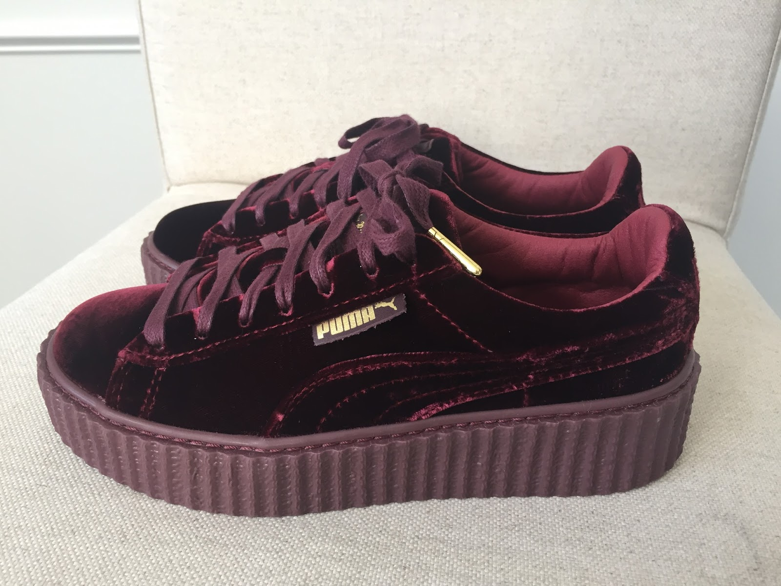 best website 833d3 b8caa Petite Impact: Fit Review Fenty Puma Rihanna Velvet Creepers