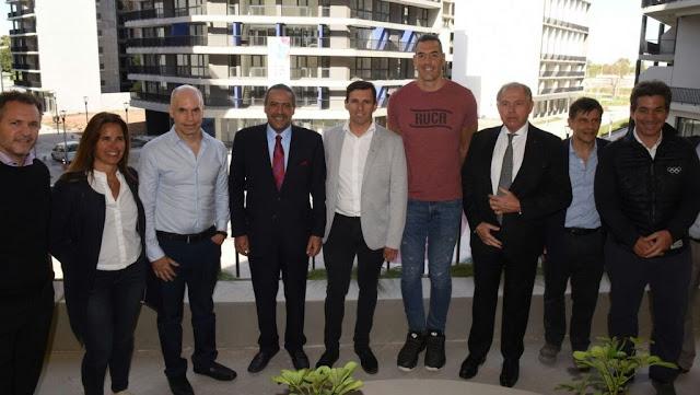 El Jeque Ahmad Al-Fahad Al-Sabah visitó la Villa Olimpica