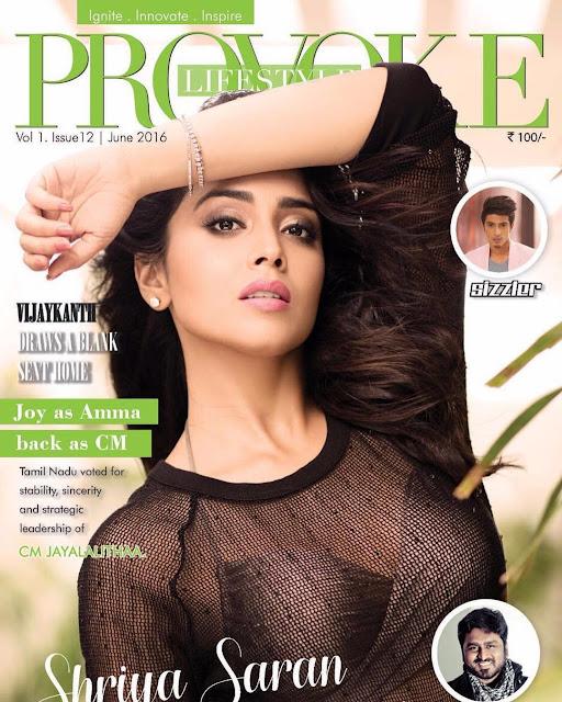 Actress, Model, @ Shriya SAran Hot Photoshoot For Provoke Magazine June 2016
