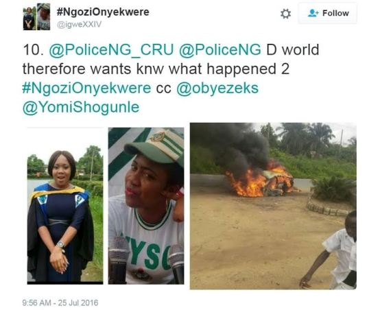 Police release report on the death of Corps Member, Ngozi Onyekwere (see photos)