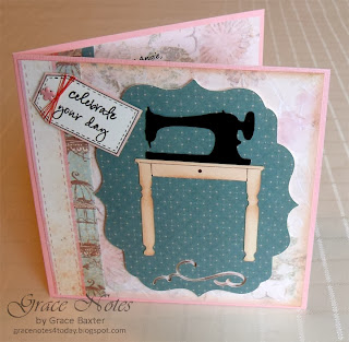 Sewing Sister Birthday card front