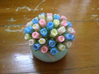 Cara Membuat Bunga tulip sedotan