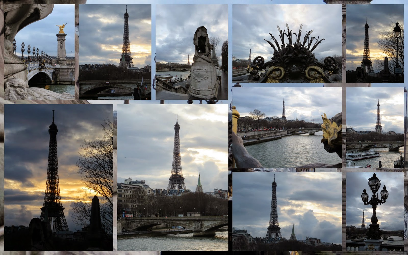 Valentine's Day Weekend in Paris - Sunset over the Eiffel Tower from Pont Alexandre III