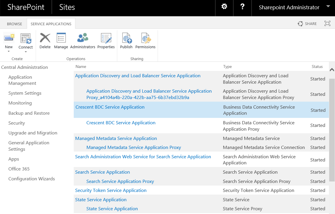 create business data connectivity service application in sharepoint 2016 using powershell