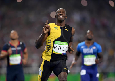 Usain Bolt Wins Third Consecutive Olympic Gold in 100m Race at Rio 2016