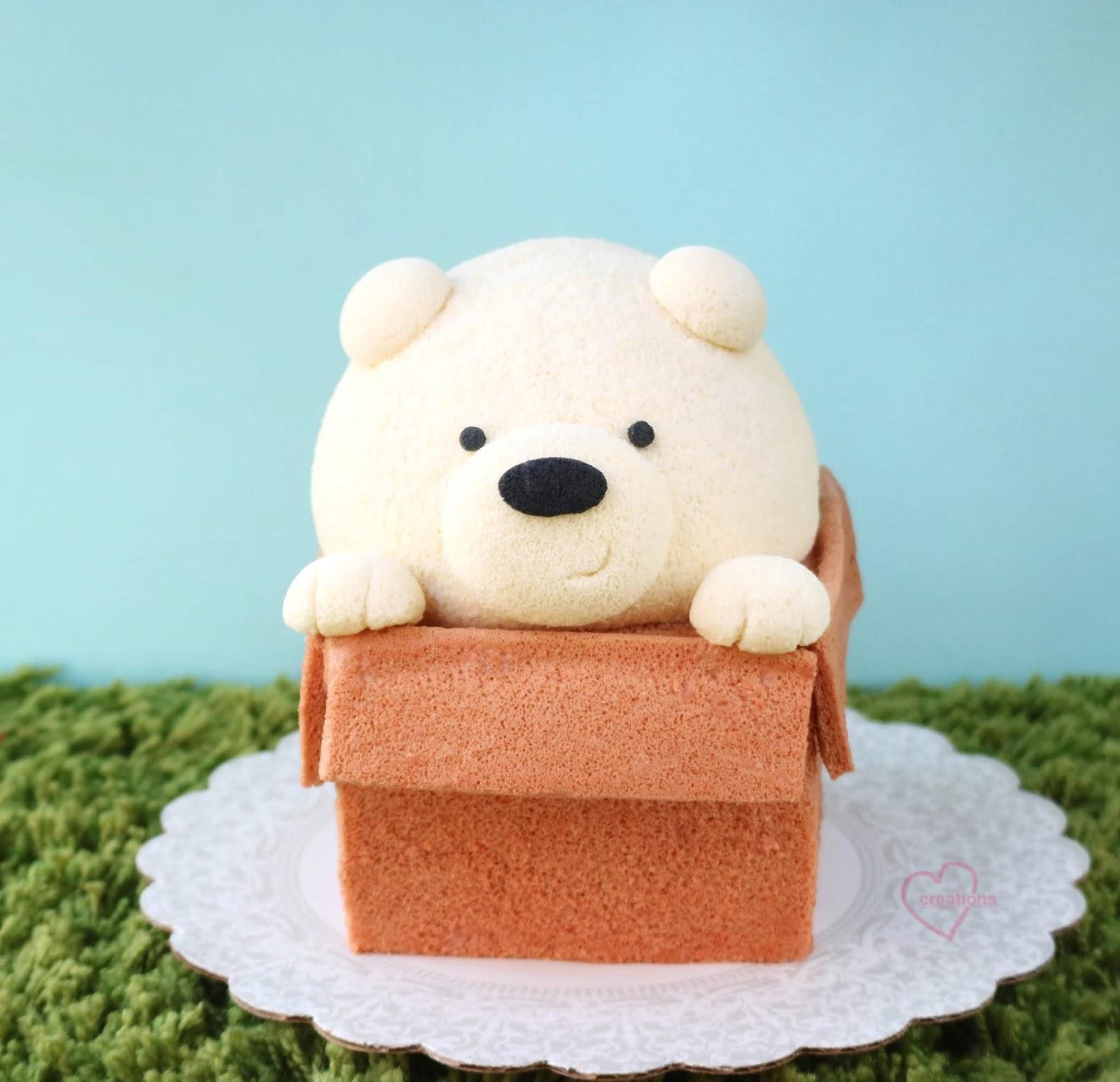 Loving Creations for You: We Bare Bears Ice Bear Chiffon Cake