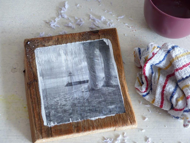 DIY Upcycling Foto Holz Transfer Fotopatch Wandbild kostenlos kostengünstig einfach Acryl Anleitung