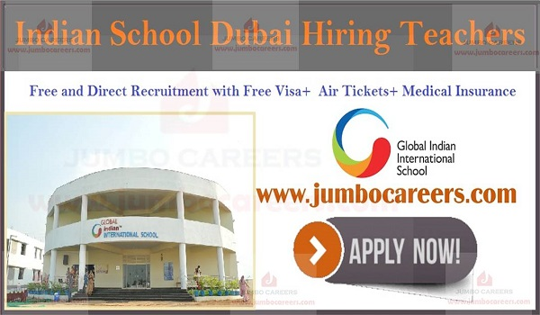 Teachers jobs in Dubai with free visa, Available teachers jobs in Dubai,