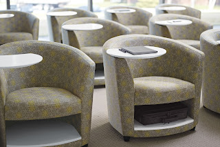 Global Total Office Reception Chairs with Storage Compartments
