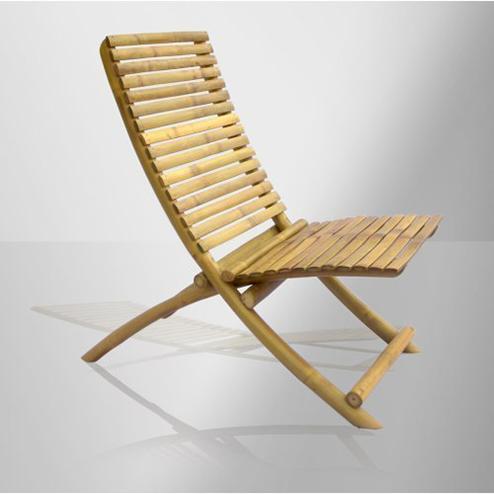 Desain kursi santai berbahan bambu