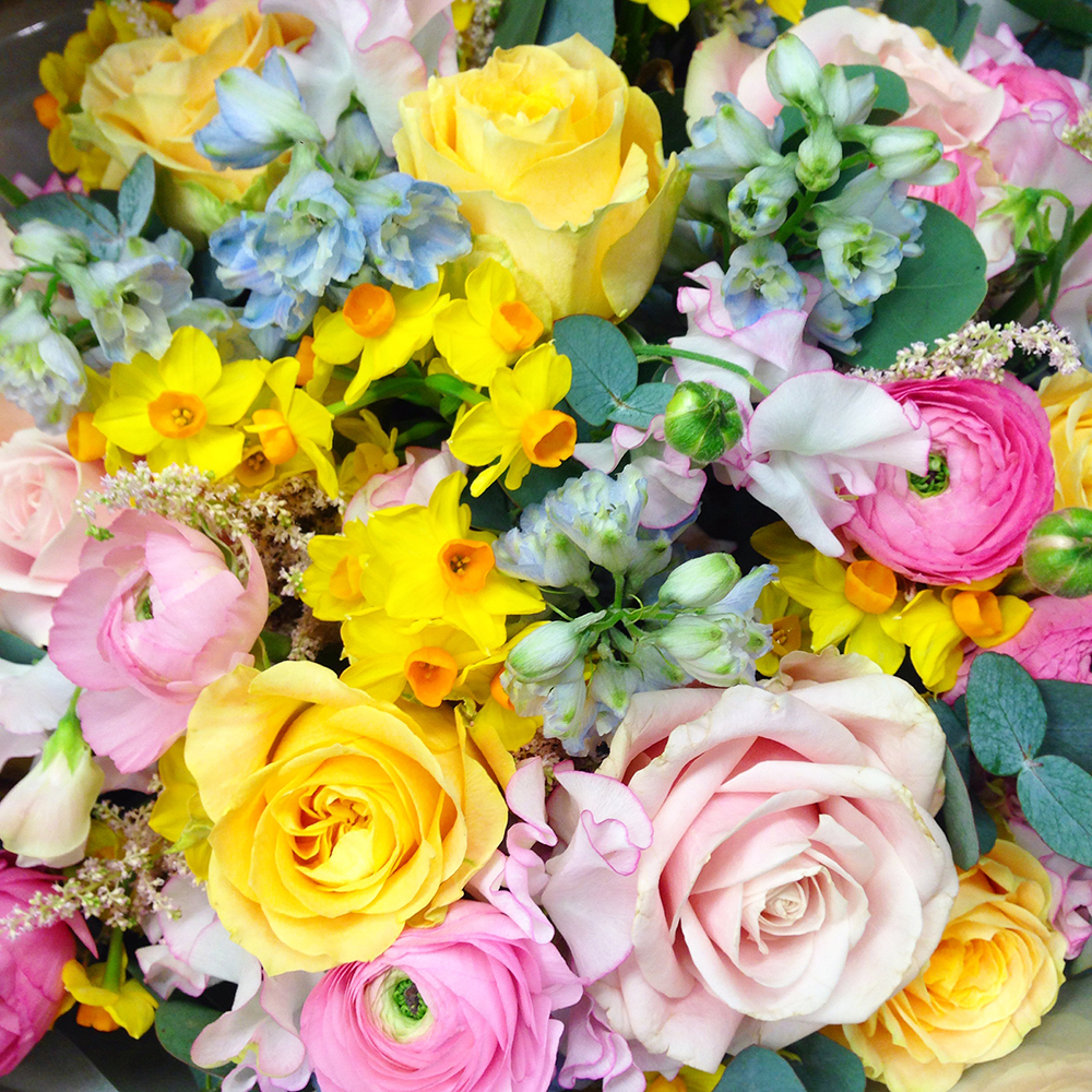 easter flowers,harrods, laduree, macaroons, rose cake, knightsbridge, london
