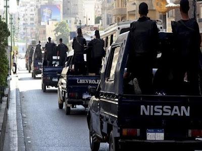 الشرطة المصرية, عناصر إجرامية, تبادل لاطلاق النار بالتجمع,
