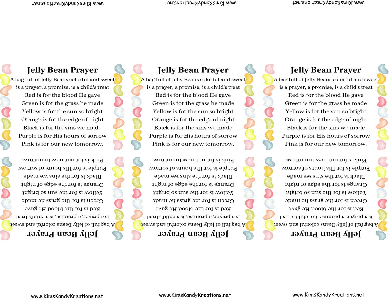 Jelly Bean Prayer And Printable