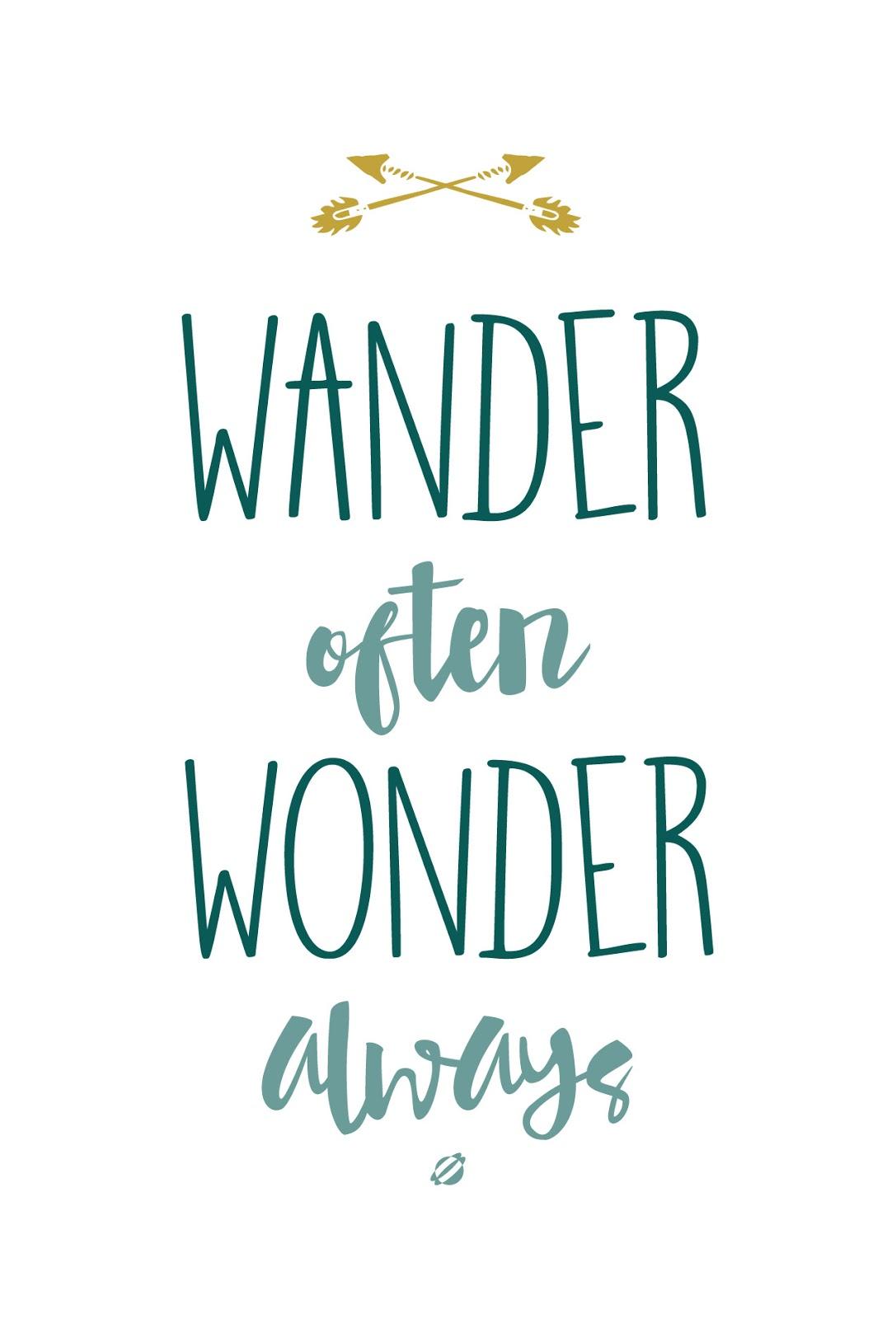 Image result for wander often wonder always