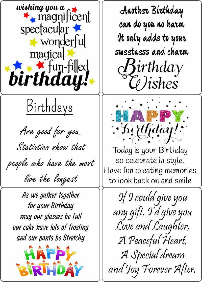 190+ Free Birthday Verses For Cards (2020) Greetings And